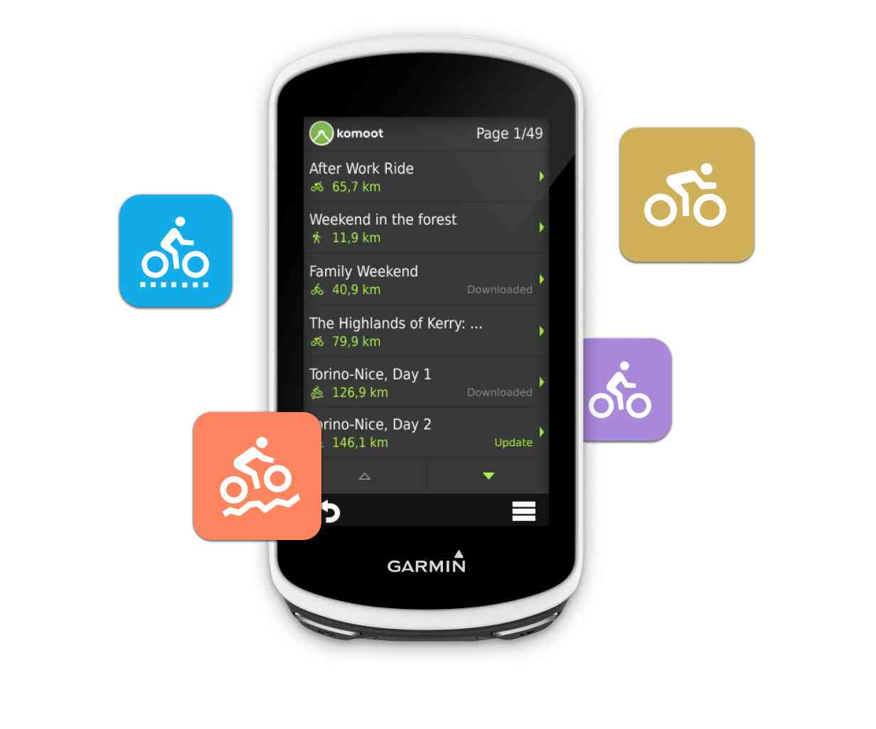 Use Komoot on your Garmin | Garmin Connect and Komoot